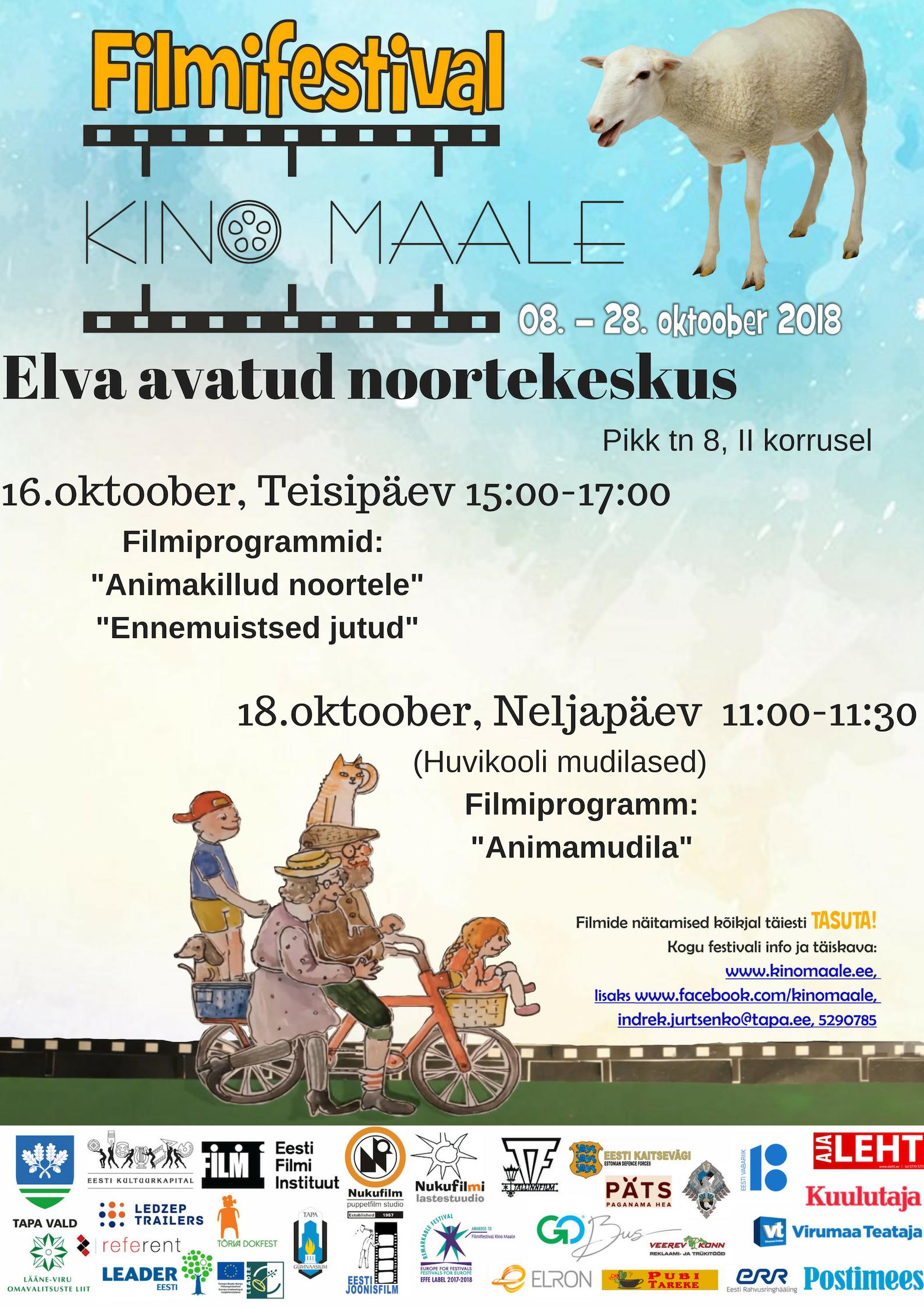 """Filmifestival """"Kino maale"""" jõuab ka Elva avatud noortekeskusesse"""